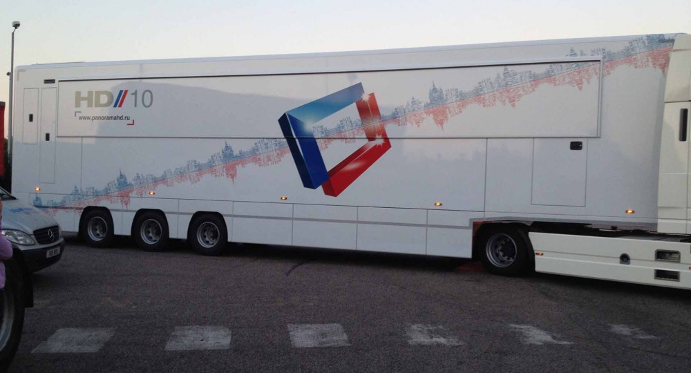 Stagetruck HD TV Studio Transport to Russia